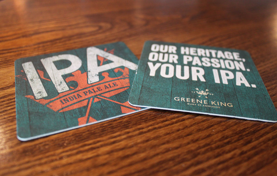 Crown & Anchor Pub Eastbourne IPA Beer Mats