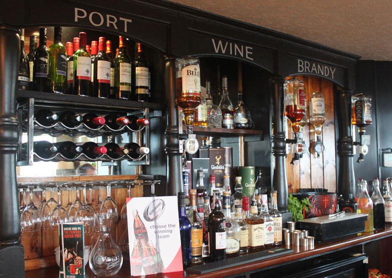 Crown & Anchor Pub Eastbourne Spirits and Wines