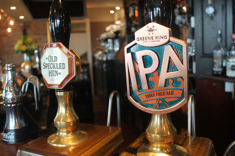 Real Ale at the Crown & Anchor pub Eastbourne