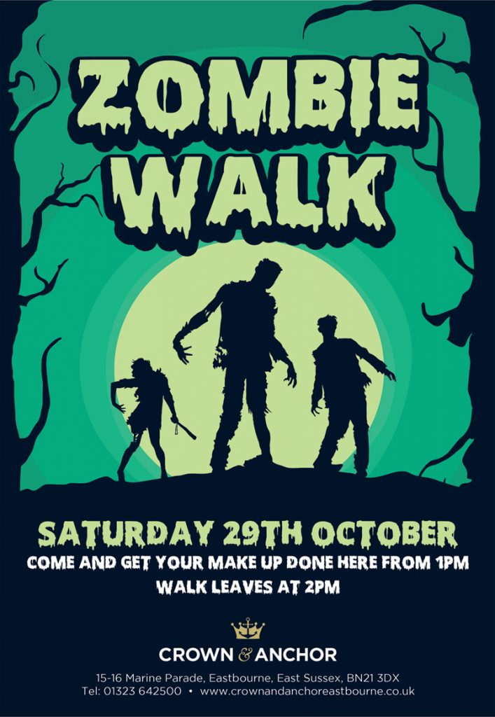 Crown and Anchor Eastbourne Zombie Walk 2016
